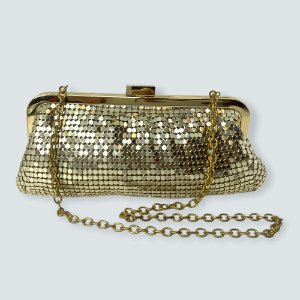 Bolsa de mão dourada