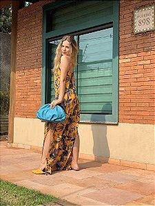 Vestido folhagem longo