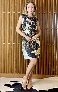Vestido montaria florido - M