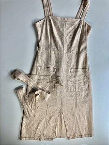 Vestido tubinho linho