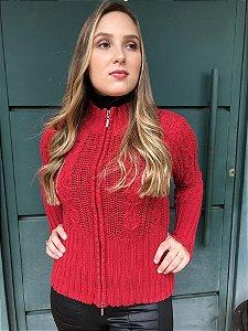 Casaco de lã vermelho