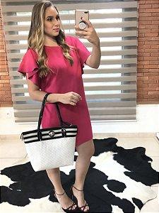 Vestido rosa em suéde