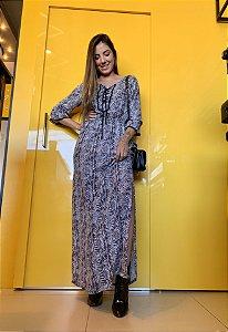 Vestido longo p/b - 40