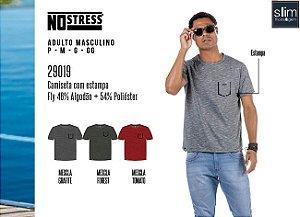 Camiseta Masculina No Stress c/ Estampa