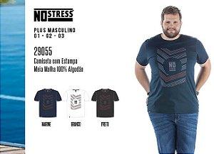 Camiseta Masculina No Stress Plus c/ Estampa
