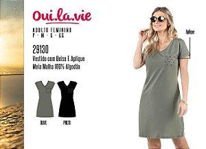 Vestido Feminino Oui.la.vie c/ Bolso e Aplique