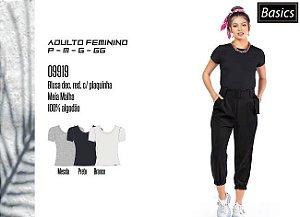 Blusa Feminina Basic c/ Plaquinha
