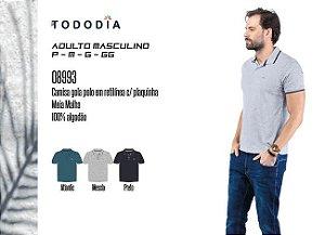 Camisa Masculina Tododia Gola Pola em Retilínea c/ Plaquinha