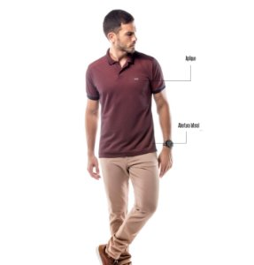 Camisa Polo Piquet Golden No Stress