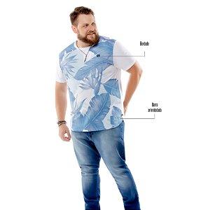 Camiseta Estampa Floral Plus TZE