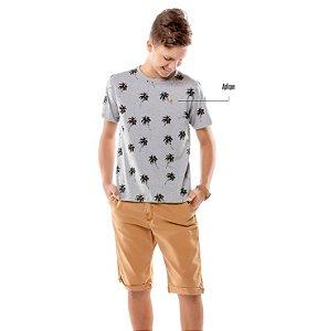 Camiseta Estampa Coqueiros Menino TZE
