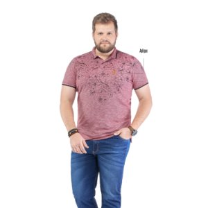 Camisa Polo Estampa Floral Plus No Stress
