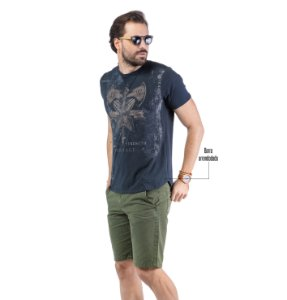 Camiseta Estampa Efeito Desgaste TZE