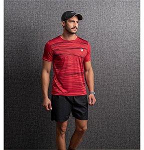 Camiseta Dry Estampa Listras Masculino Endorfina