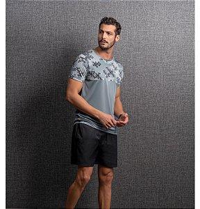 Camiseta Dry Estampa Reticulados Masculino Endorfina