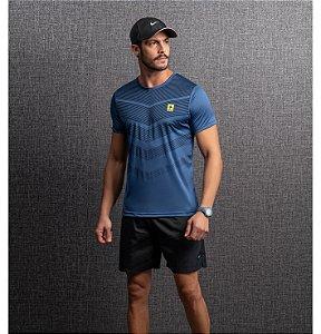 Camiseta Dry Estampa Listras Setas Masculino Endorfina
