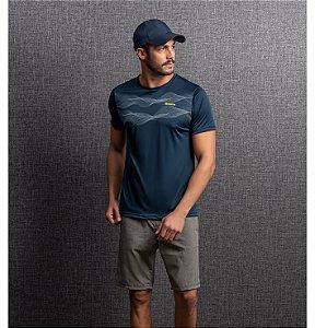 Camiseta Dry Estampa Ondas Masculino Endorfina