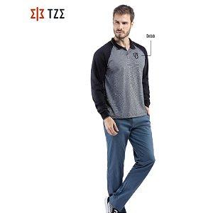 Camisa Polo Manga Longa Raglan TZE