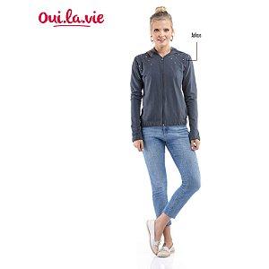 Jaqueta de Molicotton com Aplique e Capuz Oui.la.vie