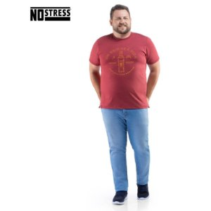 Camiseta com Estampa No Stress Plus