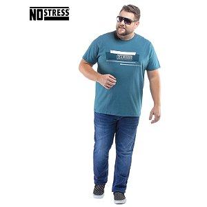 Camiseta com Estampa No Stress Plus
