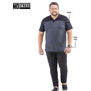 Camisa Polo com Recorte No Stress Plus