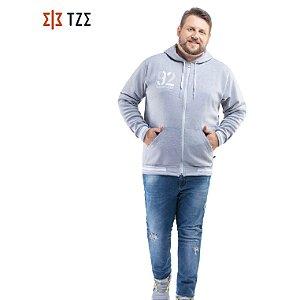 Jaqueta de Moletom com Retilíneas e Capuz TZE Plus