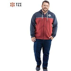 Jaqueta de Moletom com Recortes e Capuz TZE Plus