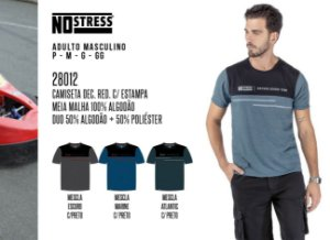 Camiseta Dec Red. Masculina No Stress c/ Estampa