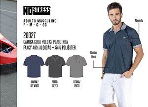 Camisa Gola Polo Masculina No Stress c/ Plaquinha