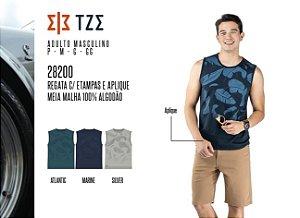 Regata Masculina TZE c/ Estampas e Aplique