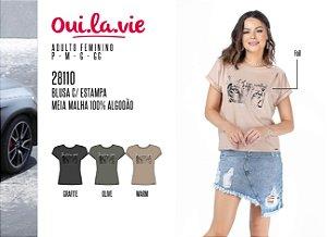 Blusa Feminina Oui.la.vie c/ Estampa