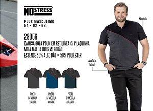 Camisa Gola Polo em Retilínea No Stress Plus c/ Plaquinha