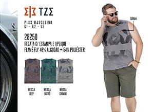 Regata TZE Plus c/ Estampa e Aplique