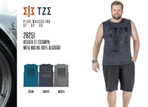 Regata TZE Plus c/ Estampa