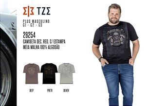 Camiseta Dec. Red. TZE Plus c/ Estampa