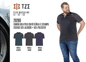 Camisa Gola Polo em Retilínea TZE Plus c/ Estampa