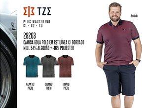 Camisa Gola Polo em Retilínea TZE Plus c/ Bordado