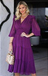 Vestido Yasmin Roxo