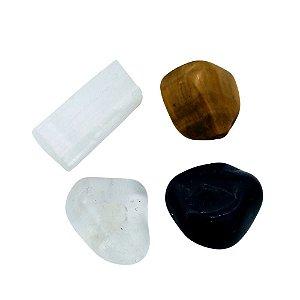 Kit de Pedras Limpeza e Proteção