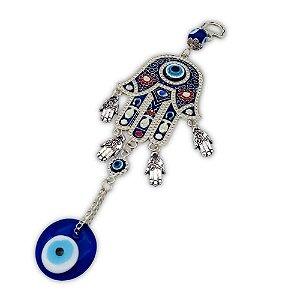 Amuleto Mão de Hamsá com Olho Grego