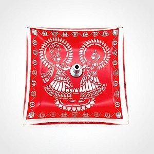 Incensário de Vidro Radha e Krishna