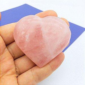 Coração de Quartzo Rosa - Grande