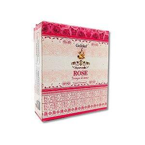 Incenso Cone Rose (Amor) - Goloka