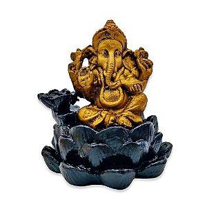 Incensário Cascata Ganesha Lótus