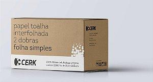 Papel Toalha Interfolha Basic 100% Celulose Cx com 4800 folhas