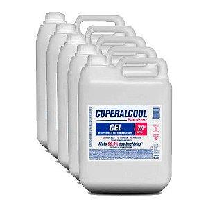 Kit com 5 - Coperalcool Bacfree Gel 70 INPM - Bombona de 4,3 KG
