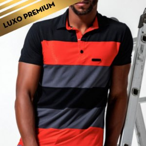 Camisa masculina Pit Bull gola polo REF.:35698