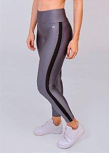 Legging Metalic Faixa Lateral CHUMBO COM PRETO