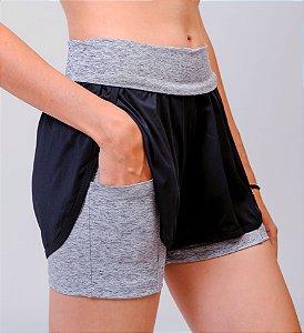 Shorts De Corrida Com Bermuda Dry Element BRANCO MESCLA